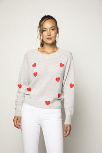 Carmen Heart Embroidered Sweater
