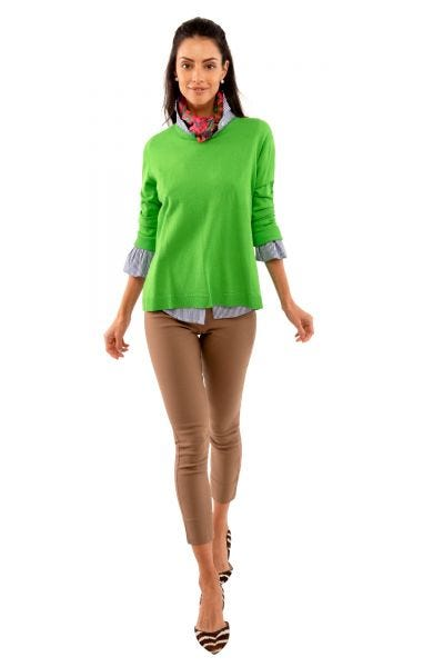 Green Sneek A Peek Sweater