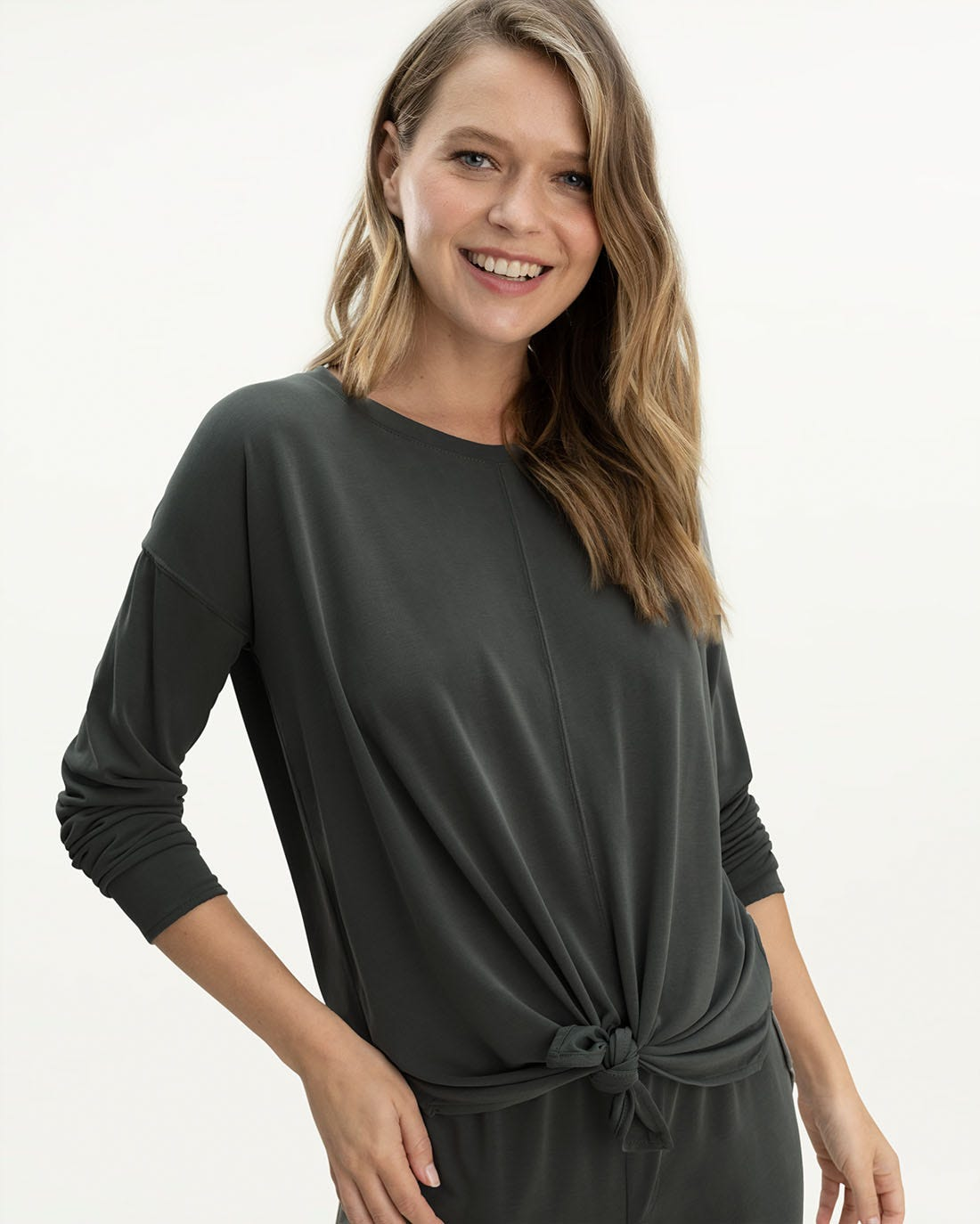 Charli Tie Front Top