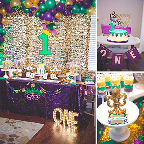 PartyWoo Purple Green and Silver Balloons 50 pcs 12 inch Chrome Green Balloons Metallic Balloons Latex Balloons for Little Mermaid Party