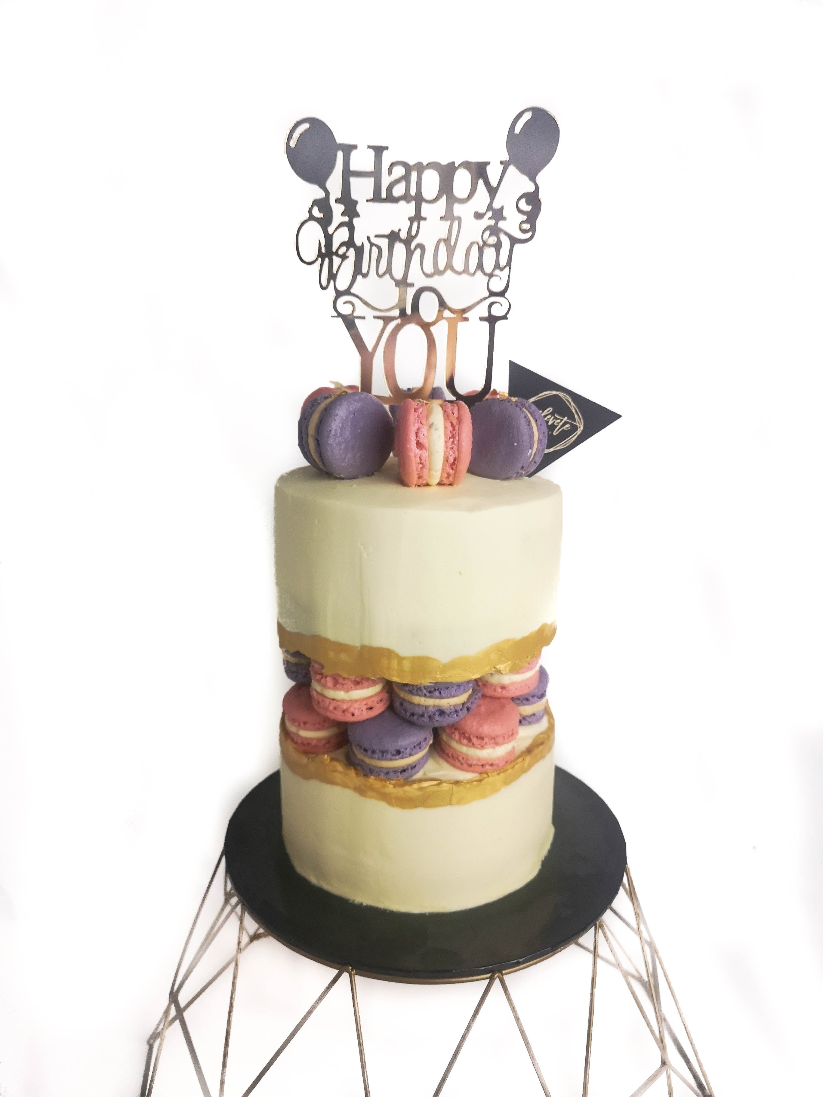 Macaron Fault Line Cake 5 Inch (1.5kg)