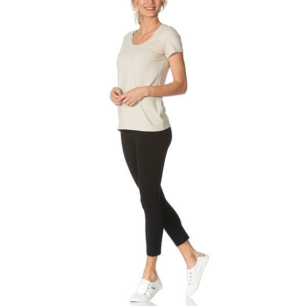 HUE Ultra Capri Leggings with Wide Waistband