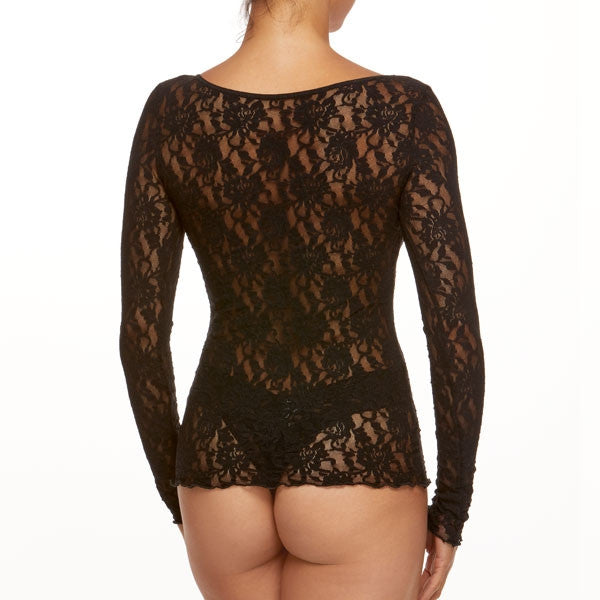 Hanky Panky Signature Lace Unlined V-Neck Boatneck 2-Way Top