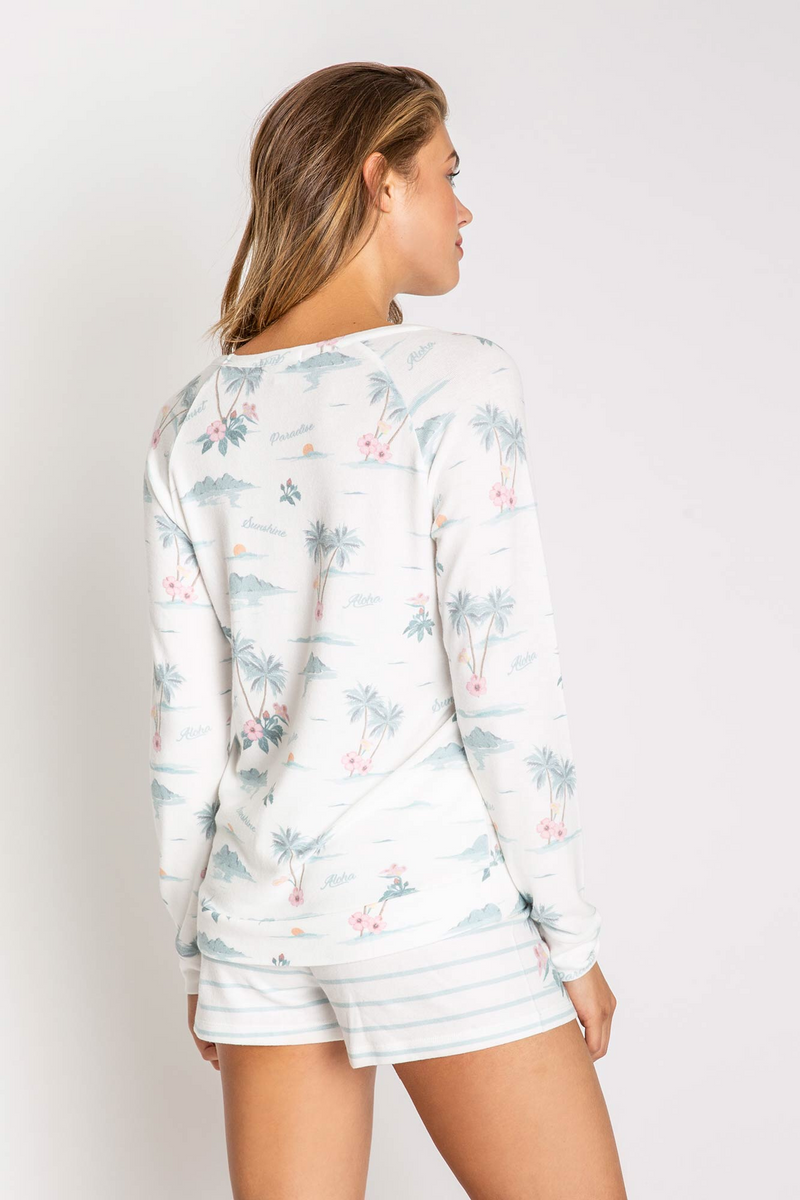 PJ SALVAGE PARADISE DREAMS LONG SLEEVE TOP