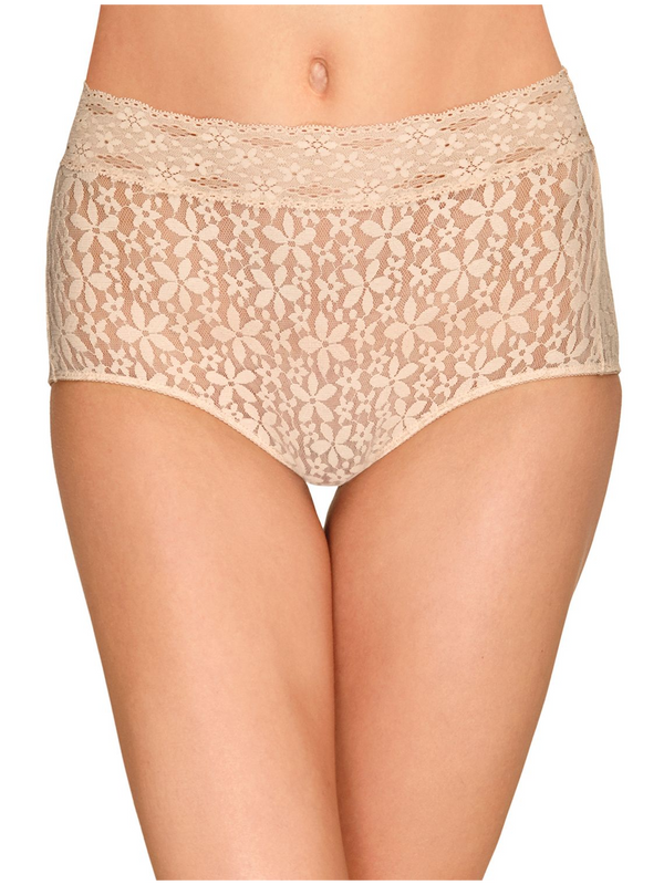 Wacoal Halo Lace Brief (3 for $48)