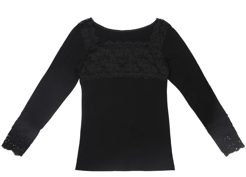 F&R Lace Modal Long Sleeve Cami Top