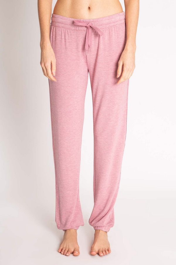 LOUNGE ESSENTIALS MELANGE BANDED PANT