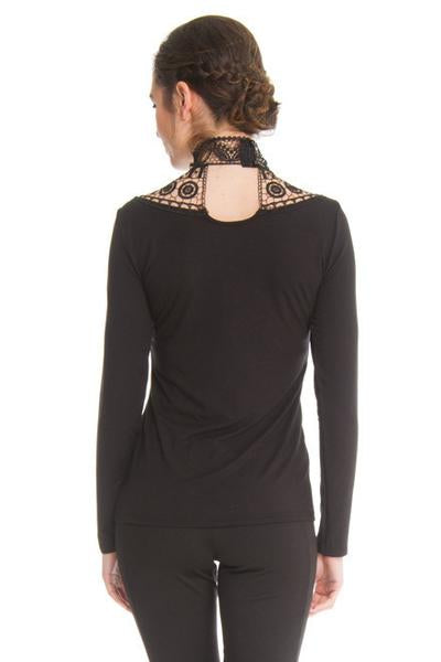 ARIANNE Teri - 9757 - Long Sleeves High Collar Top