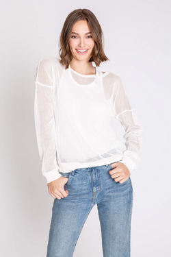 PJ SALVAGE SALTY DAYS MESH LONG SLEEVE TOP