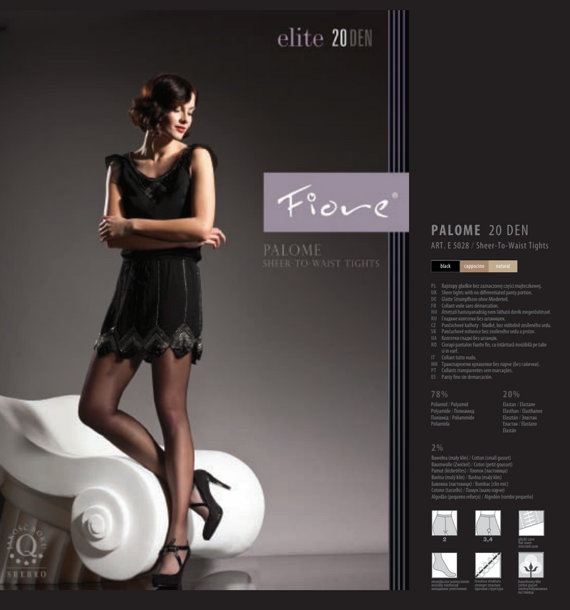 Fiore Elite E5028 Palome Sheer-To-Waist tights