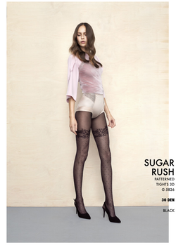 Fiore The Girl Sugar Rush 30Den Patterned Tights