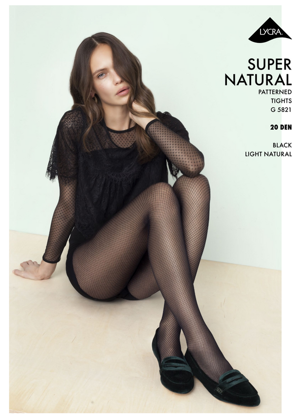Fiore The Girl Supernat Ural  20Den Patterned Transparent Tights
