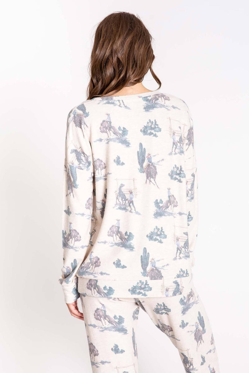 PJ Salvage WANTED LONG SLEEVE TOP