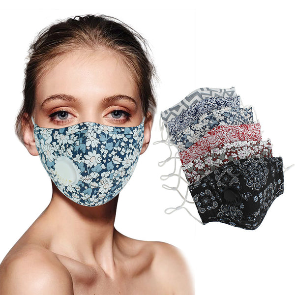 F&R Adult Trendy Adjustable Cotton & Washable Face Cover