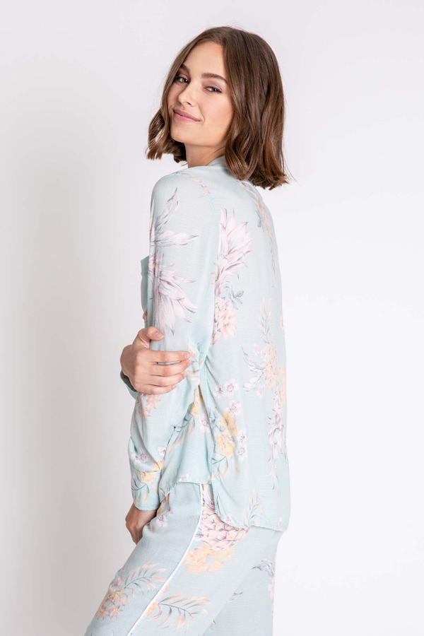 PARADISE BOUND LONG SLEEVE PAJAMA TOP