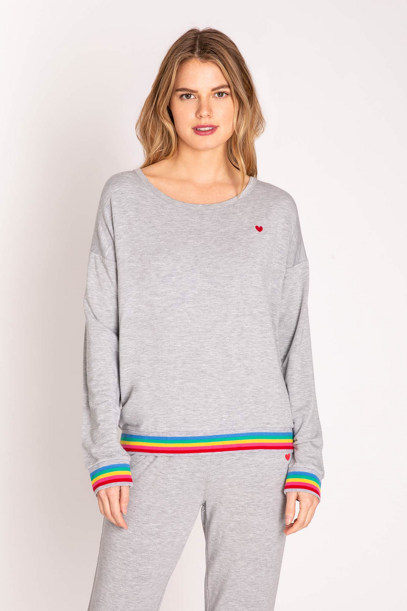 PJ SALVAGE Rainbow Long Sleeve Top