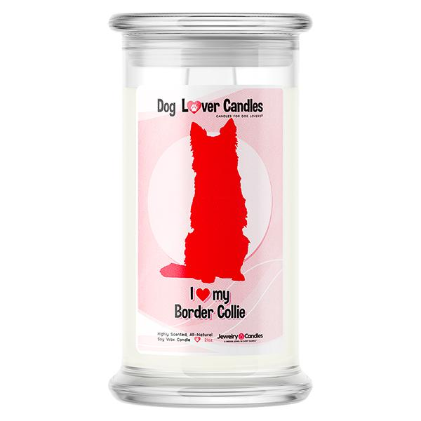 Border Collie Dog Lover Candle