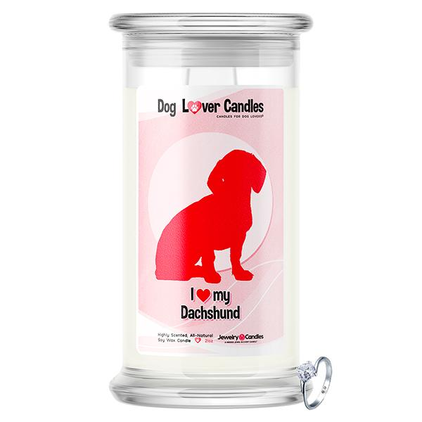 Dachshund Dog Lover Jewelry Candle