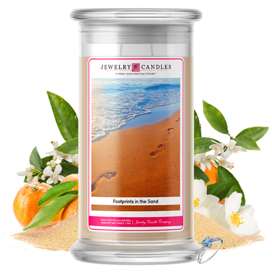 Footprint In The Sand | Jewelry Candle®