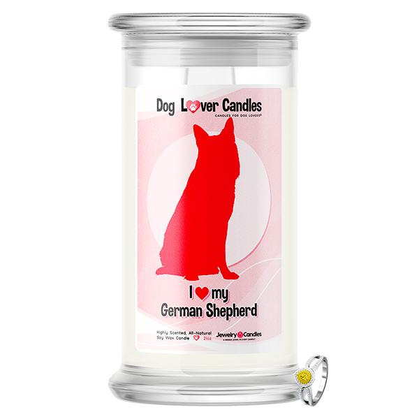 German Shepherd Dog Lover Jewelry Candle