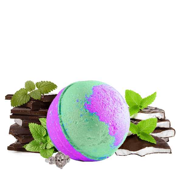 Peppermint Patty | Single Jewelry Bath Bomb®-Jewelry Bath Bombs-The Official Website of Jewelry Candles - Find Jewelry In Candles!