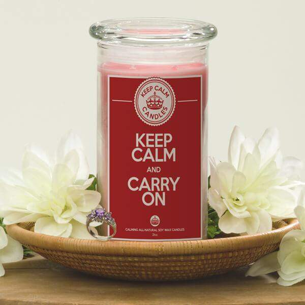 Keep Calm And Carry On - Keep Calm Candles-Keep Calm Candles-The Official Website of Jewelry Candles - Find Jewelry In Candles!
