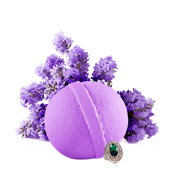 Lavender | Single Jewelry Bath Bomb®-Jewelry Bath Bombs-The Official Website of Jewelry Candles - Find Jewelry In Candles!
