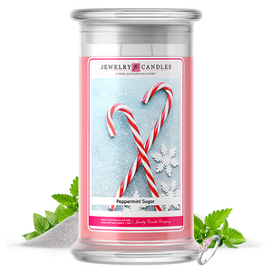 Peppermint Sugar | Jewelry Candle®-Jewelry Candles®-The Official Website of Jewelry Candles - Find Jewelry In Candles!