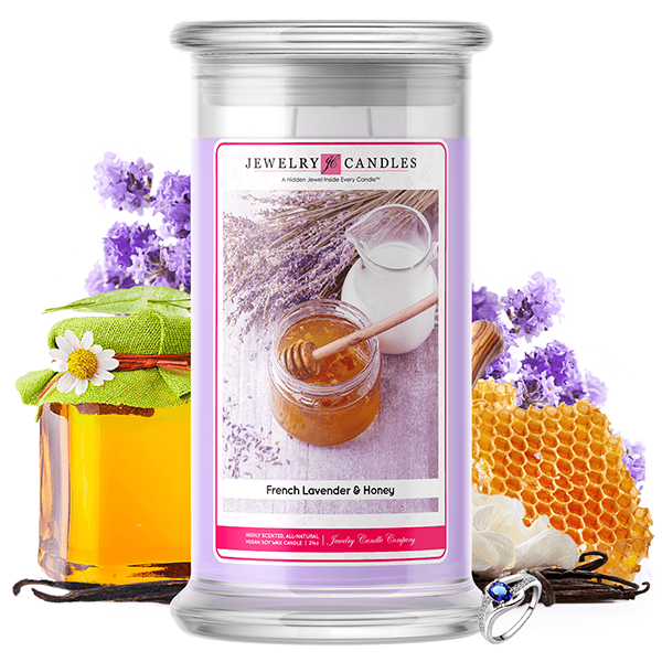 French Lavender & Honey | Jewelry Candle®-Jewelry Candles®-The Official Website of Jewelry Candles - Find Jewelry In Candles!
