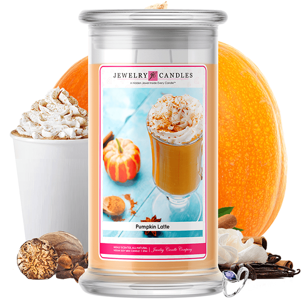 Pumpkin Latte | Jewelry Candle®-Jewelry Candles®-The Official Website of Jewelry Candles - Find Jewelry In Candles!