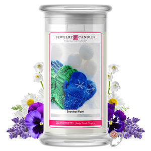 Snowball Fight | Jewelry Candle®-Jewelry Candles®-The Official Website of Jewelry Candles - Find Jewelry In Candles!