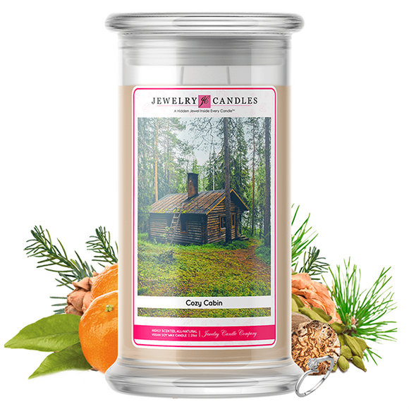 Cozy Cabin | Jewelry Candle®-Jewelry Candles®-The Official Website of Jewelry Candles - Find Jewelry In Candles!