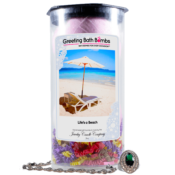 Life's A Beach | Greeting Bath Bombs®-Jewelry Bath Bombs-The Official Website of Jewelry Candles - Find Jewelry In Candles!