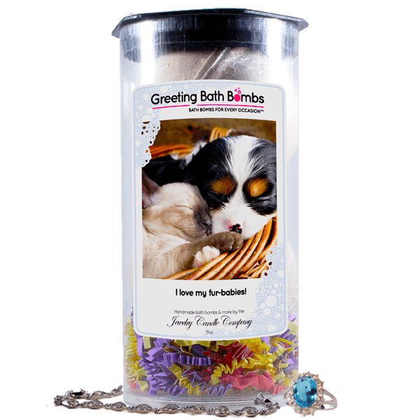I Love My Fur-Babies! | Greeting Bath Bombs®-Jewelry Bath Bombs-The Official Website of Jewelry Candles - Find Jewelry In Candles!