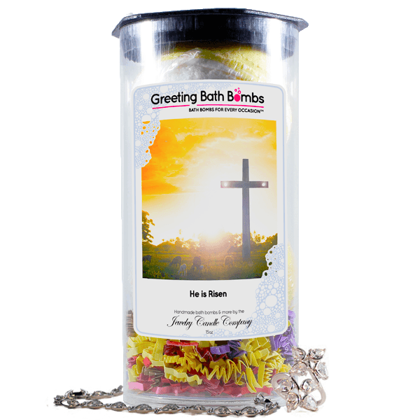 He Is Risen | Greeting Bath Bombs®-Jewelry Bath Bombs-The Official Website of Jewelry Candles - Find Jewelry In Candles!