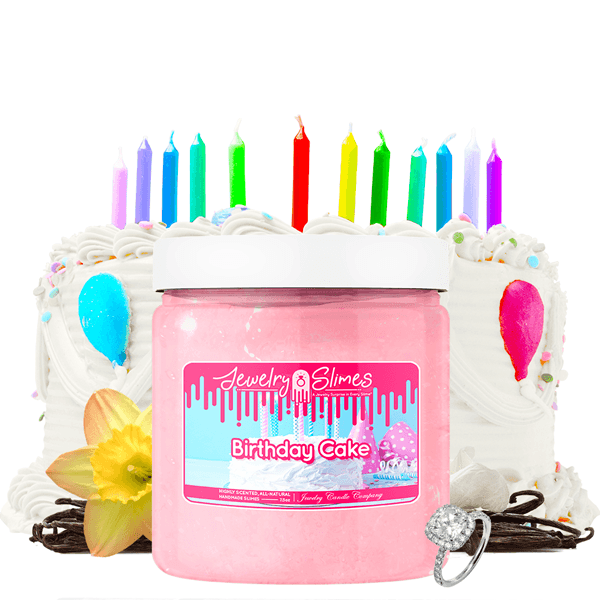 Birthday Cake | Jewelry Slime™?-Jewelry Slime | A Jewelry Surprise In Every Jar of Slime-The Official Website of Jewelry Candles - Find Jewelry In Candles!