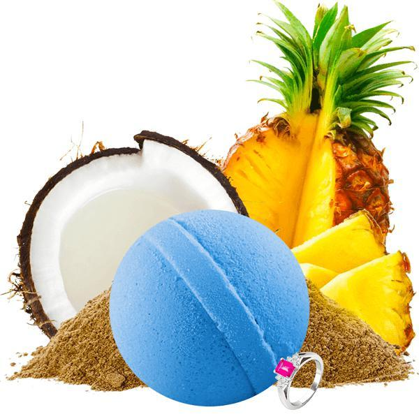 Tiki Party | Single Ring Bath Bomb®-Single Ring Bath Bomb®-The Official Website of Jewelry Candles - Find Jewelry In Candles!