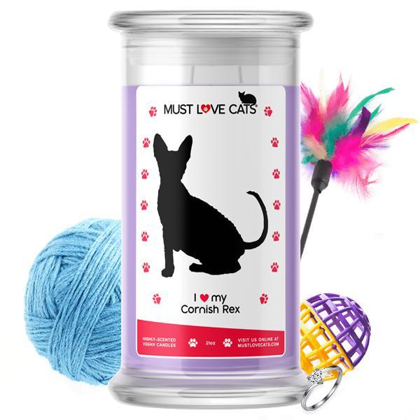 I Love My Cornish Rex | Must Love Cats® Candle-Must Love Cats® Candle-The Official Website of Jewelry Candles - Find Jewelry In Candles!