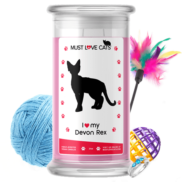 I Love My Devon Rex | Must Love Cats® Candle-Must Love Cats® Candle-The Official Website of Jewelry Candles - Find Jewelry In Candles!