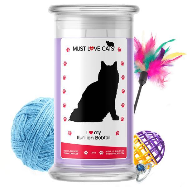 I Love My Kurilian Bobtail | Must Love Cats® Candle-Must Love Cats® Candle-The Official Website of Jewelry Candles - Find Jewelry In Candles!
