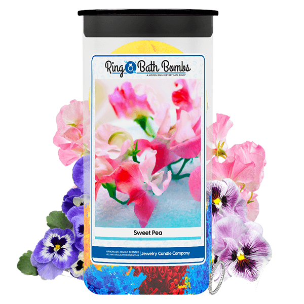 Sweet Pea Ring Bath Bombs Twin Pack