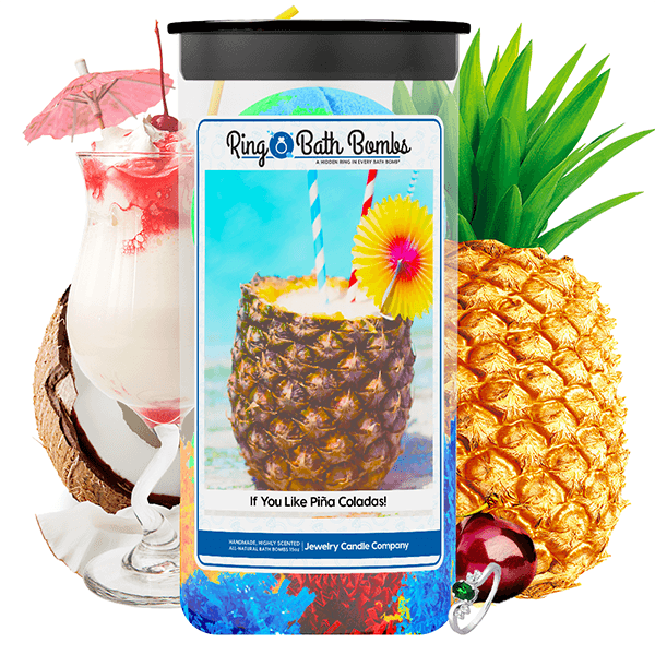 If You Like Piña Coladas! Ring Bath Bombs Twin Pack