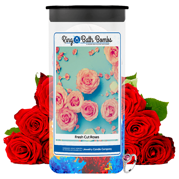 Fresh Cut Roses Ring Bath Bombs Twin Pack