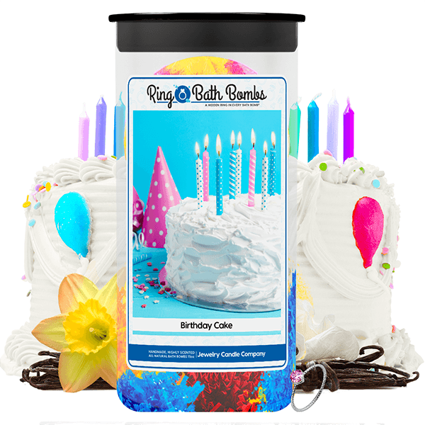 Birthday Cake Ring Bath Bombs Twin Pack