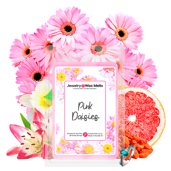 Pink Daisies Jewelry Wax Melt