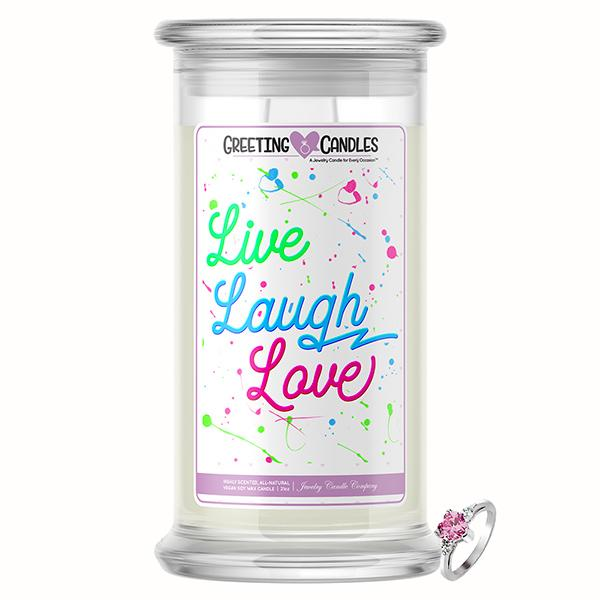 Live, Laugh, Love Jewelry Greeting Candles