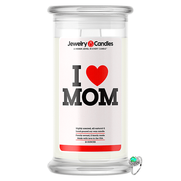 I Love Mom Jewelry Love Candle