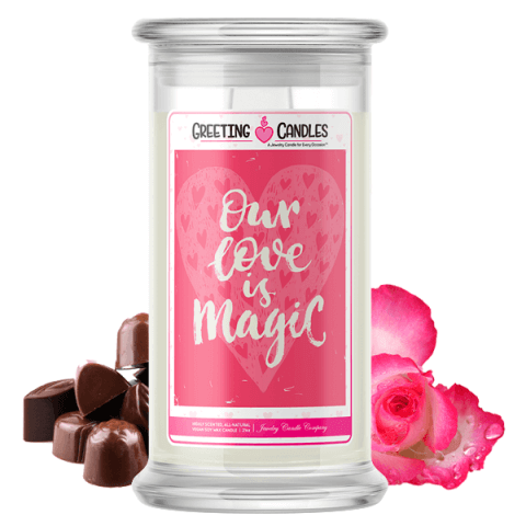 Our Love Is Magic Jewelry Candle
