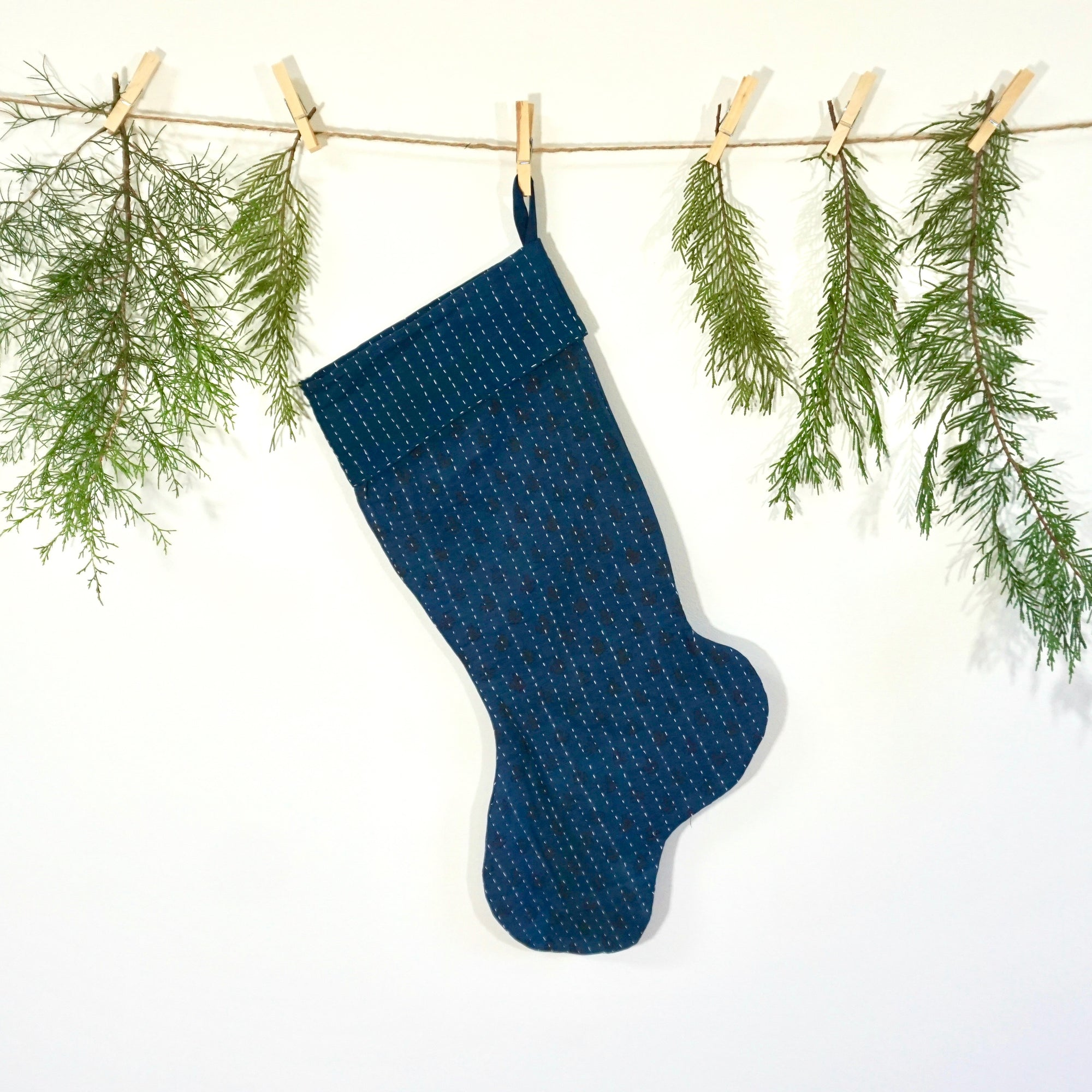 Indigo Cotton Stocking