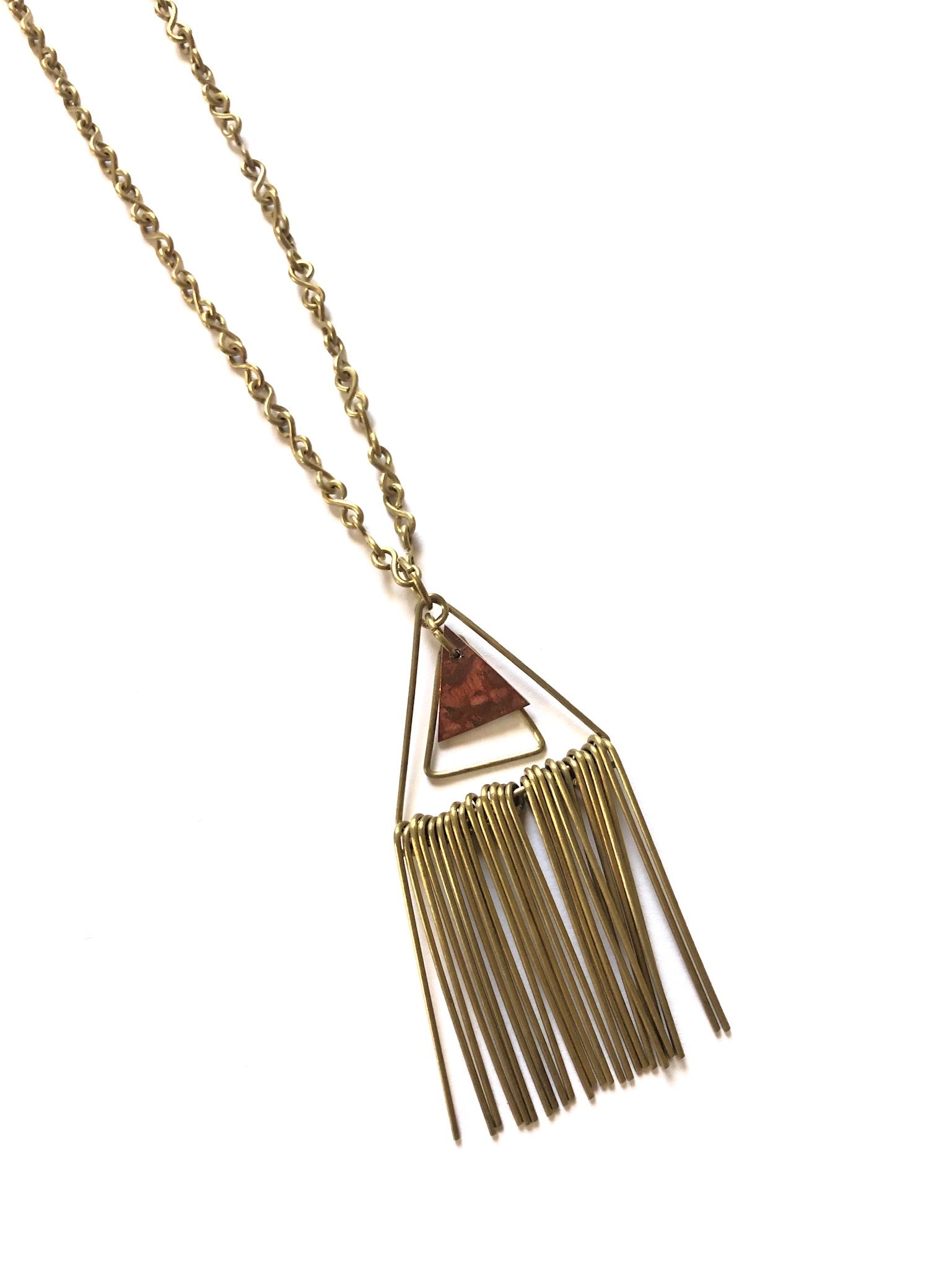 Triangle Fringe Necklace